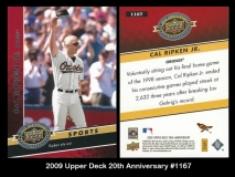 2009 Upper Deck 20th Anniversary #1167