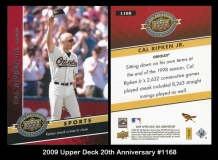 2009 Upper Deck 20th Anniversary #1168