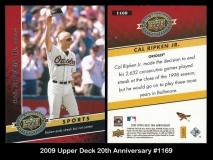 2009 Upper Deck 20th Anniversary #1169
