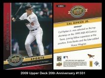 2009 Upper Deck 20th Anniversary #1331