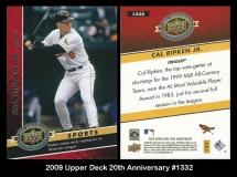 2009 Upper Deck 20th Anniversary #1332