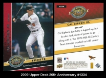 2009 Upper Deck 20th Anniversary #1334
