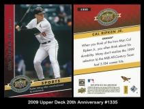 2009 Upper Deck 20th Anniversary #1335
