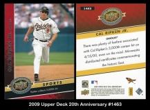 2009 Upper Deck 20th Anniversary #1463