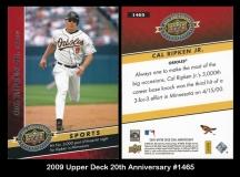 2009 Upper Deck 20th Anniversary #1465