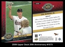 2009 Upper Deck 20th Anniversary #1573