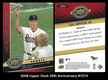 2009 Upper Deck 20th Anniversary #1574