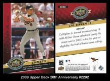 2009 Upper Deck 20th Anniversary #2292