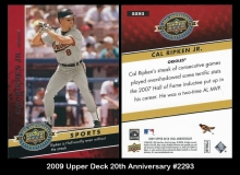 2009 Upper Deck 20th Anniversary #2293