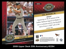 2009 Upper Deck 20th Anniversary #2294