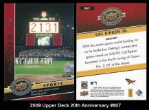 2009 Upper Deck 20th Anniversary #807