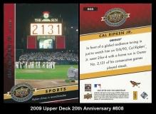 2009 Upper Deck 20th Anniversary #808