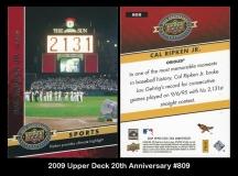 2009 Upper Deck 20th Anniversary #809
