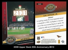 2009 Upper Deck 20th Anniversary #810