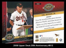 2009 Upper Deck 20th Anniversary #812