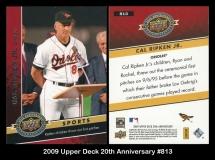 2009 Upper Deck 20th Anniversary #813