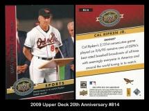 2009 Upper Deck 20th Anniversary #814