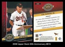 2009 Upper Deck 20th Anniversary #815