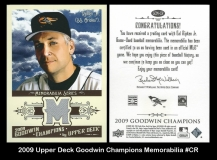 2009 Upper Deck Goodwin Champions Memorabilia #CR
