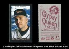 2009 Upper Deck Goodwin Champions Mini Black Border #101