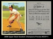 2009 Upper Deck Goodwin Champions Preview #GCP11