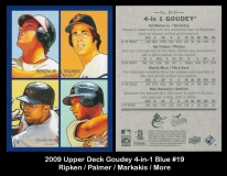 2009 Upper Deck Goudey 4-in-1 Blue #19