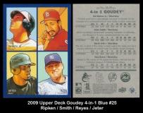 2009 Upper Deck Goudey 4-in-1 Blue #25