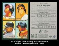 2009 Upper Deck Goudey 4-in-1 Green #19