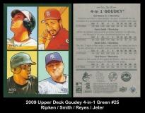 2009 Upper Deck Goudey 4-in-1 Green #25