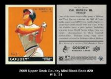 2009 Upper Deck Goudey Mini Black Back #20