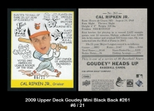 2009 Upper Deck Goudey Mini Black Back #261