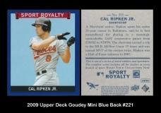 2009 Upper Deck Goudey Mini Blue Back #221
