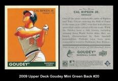 2009 Upper Deck Goudey Mini Green Back #20
