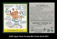 2009 Upper Deck Goudey Mini Green Back #261