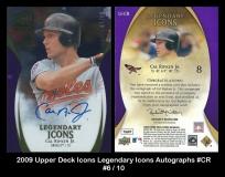 2009 Upper Deck Icons Legendary Icons Autographs #CR