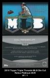 2010 Topps Triple Threads MLB Die Cut Relics Platinum #CR