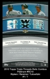 2010 Topps Triple Threads Relic Combos Platinum #RC10