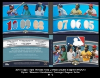 2010 Topps Triple Threads Relic Combos Double Sapphire #RDC13