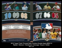 2010 Topps Triple Threads Relic Combos Double Sepia #RDC13