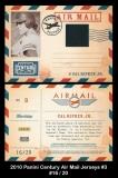 2010 Panini Century Air Mail Jerseys #3