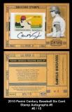 2010 Panini Century Baseball Six Cent Stamp Autographs #5