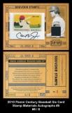 2010 Panini Century Baseball Six Cent Stamp Materials Autographs #5