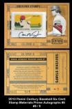 2010 Panini Century Baseball Six Cent Stamp Materials Prime Autographs #5