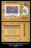 2010 Panini Century Baseball Three Cent Stamp Autographs #5