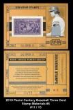 2010 Panini Century Baseball Three Cent Stamp Materials #5