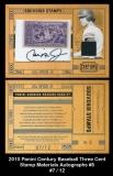 2010 Panini Century Baseball Three Cent Stamp Materials Autographs #5