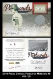 2010 Panini Century Postcards Materials #8