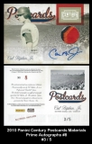 2010 Panini Century Postcards Materials Prime Autographs #8