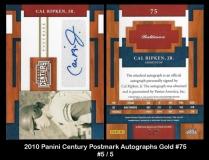 2010 Panini Century Postmark Autographs Gold #75