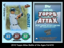 2010 Topps Attax Battle of the Ages Foil #19
